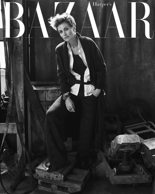 Andreas Ortner Photographer NYC Cover Harpers Bazaar black and white actress