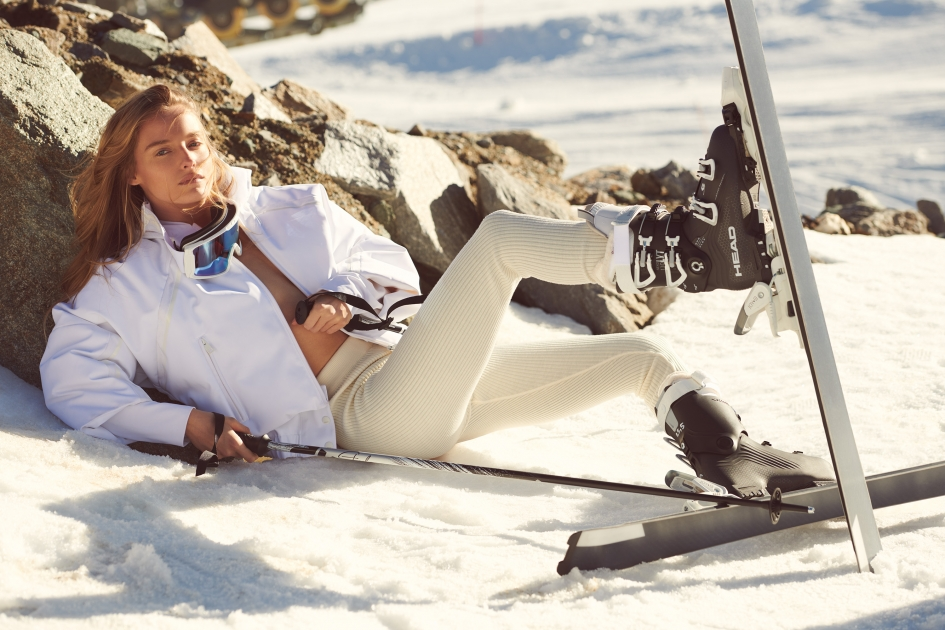 Fashion Photographer Director NYC Andreas Ortner Editorial Myself Ski Laying in the Snow