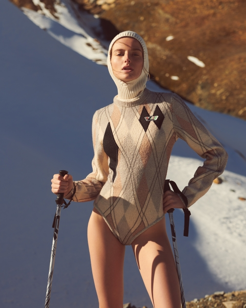 Fashion Photographer Director NYC Andreas Ortner Editorial Myself Ski Body