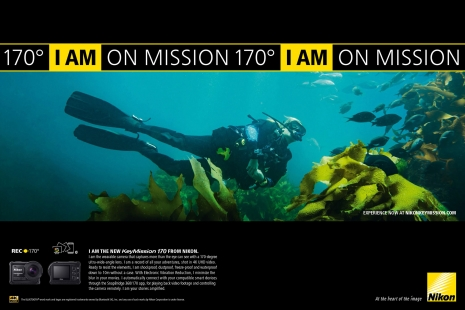 Sven Jacobsen Nikon Action Diving Advertising