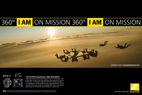 Sven Jacobsen Nikon Action Sky Diving Advertising