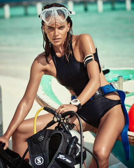 Andreas Ortner Photographer NYC Editorial Diver Swimsuit
