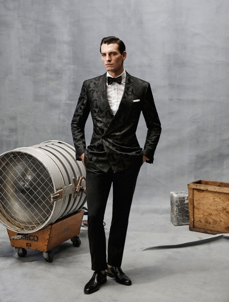 Walter Chin GQ Male Model in Formal Suit Studio