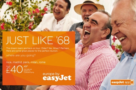 Sven Jacobsen Advertising EasyJet Just Like '68