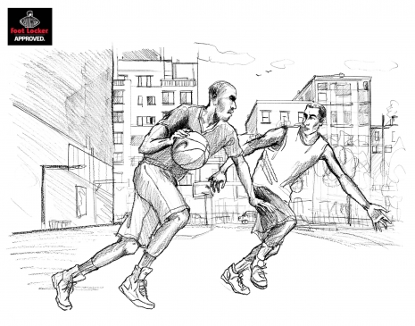 Lily Qian Illustrator NYC Footlocker Sport drawing lifestyle