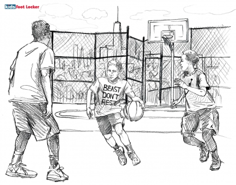 Lily Qian Illustrator NYC Footlocker Sport Kids drawing lifestyle
