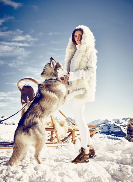 Andreas Ortner Fashion Photographer NYC Hoegl Campaign Snow Husky Model