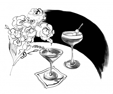 Lily Qian Illustrator NYC Net-a-Porter invitation cocktail drawing