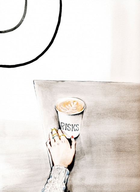 Lily Qian Illustrator NCY Travel Lifestyle coffee drawing