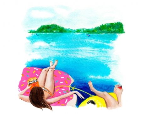 Lily Qian Illustrator NCY Travel Lake Lifestyle drawing