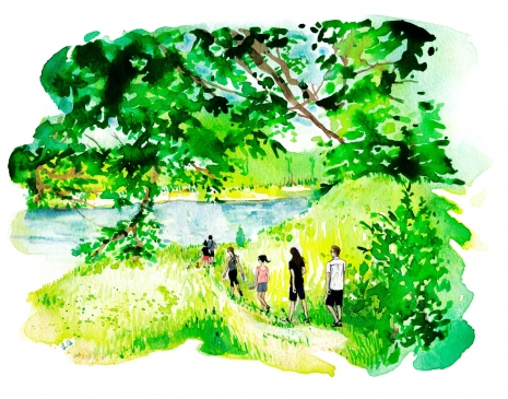 Lily Qian Illustrator NYC Travel Forest Lifestyle drawing