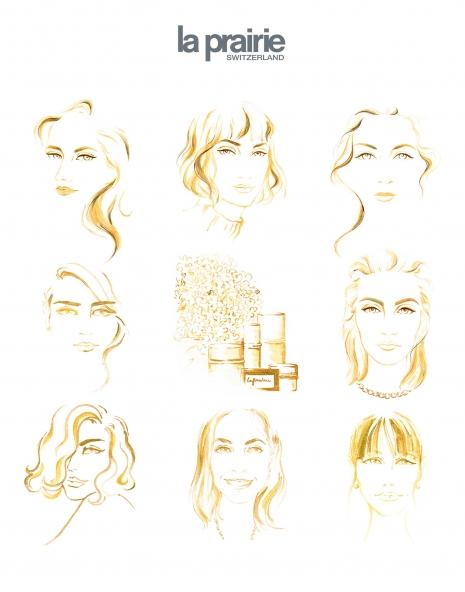 Lily Qian Illustrator NYC Beauty Illustrations   isabel
