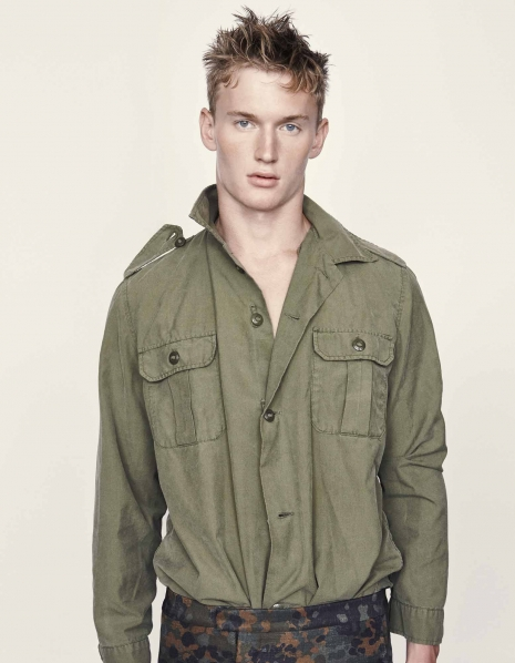 Large Male model Burberry