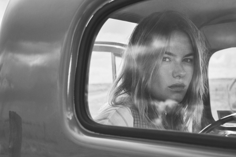 Mango OnLocation Camille Rowe Car black & white by Hunter & Gatti