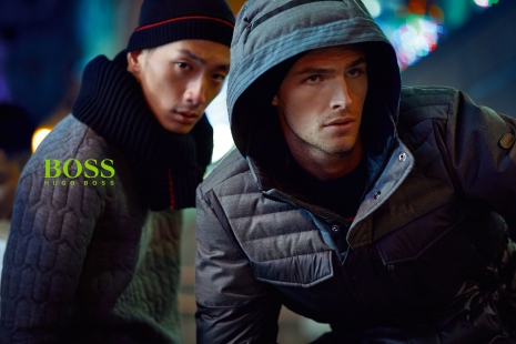 Hugo Boss Green Tokio Guys close up by Hunter & Gatti