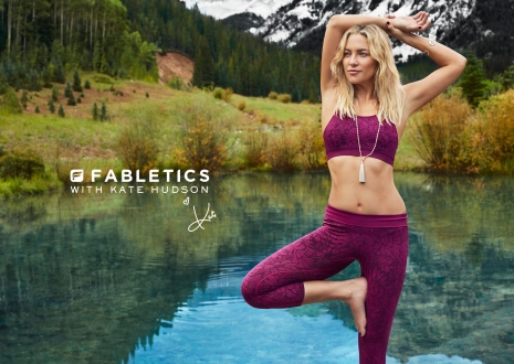 Fabletics Kate Hudson Yoga lake by Hunter & Gatti