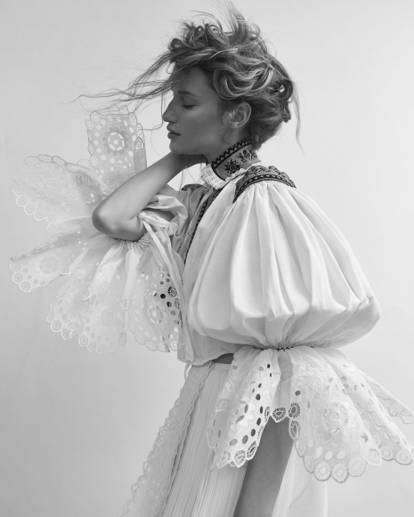Fashion Photographer Director NYC Andreas Ortner Harpers Bazaar CZ Dress Beauty