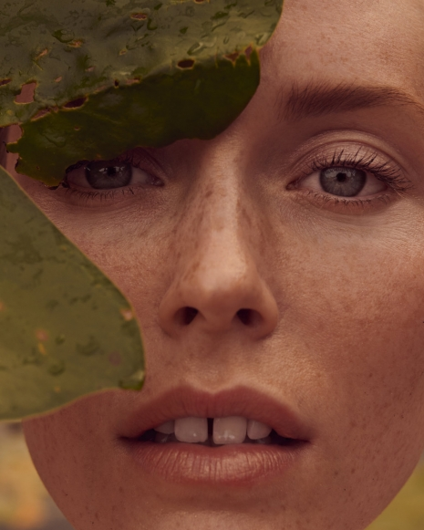 Fashion Photographer Director NYC Andreas Ortner Vogue Bellezza Leaf Beauty