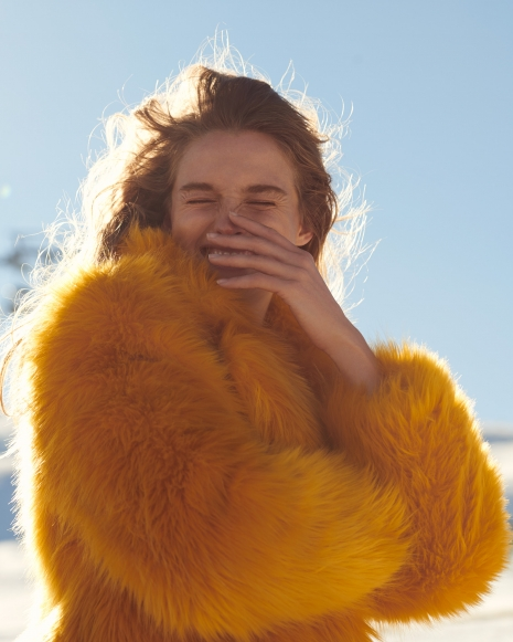 Fashion Photographer Director NYC Andreas Ortner Editorial Myself Ski Yellow Jacket