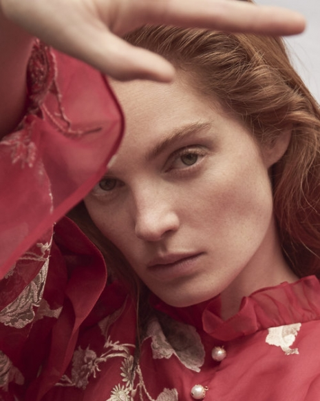 Fashion Photographer Director NYC Andreas Ortner Editorial Marie Claire CZ Alexina Graham Close Up Face Fashion Women