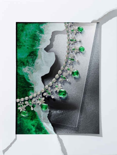 Still Life Photographer Armin Zogbaum Chopard Jewelry Collage Necklace Green