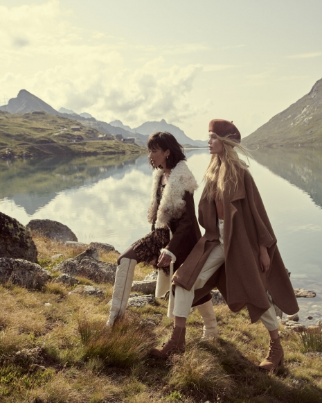 Fashion photographer NYC Andreas Ortner Free People Holiday Campaign Two Girls Walking Fashion Advertising