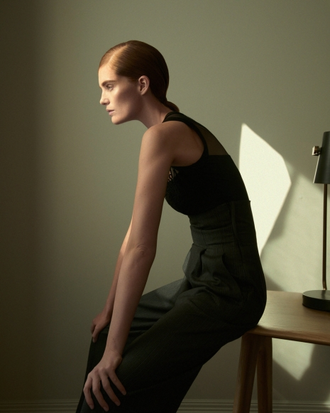 Fashion Photographer Andreas Ortner NYC Numéro Alexina Graham Sitting on the Table