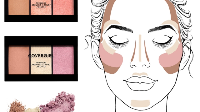 Lily Qian Illustrator NYC Covergirl Trublend Serving Sculpt Contour Palette Packaging Beauty