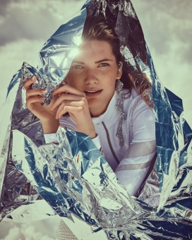 Fashion Photographer Director NYC Andreas Ortner Salt Magazine Editorial Swarovski Close Up Fashion Women