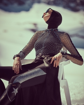 Fashion Photographer Director NYC Andreas Ortner Salt Magazine Editorial Swarovski Sitting Fashion Women
