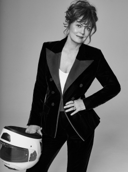 Photographer Walter Chin Icon Magazine Susan Sarandon Editorial February 19 Helmet Fashion Women