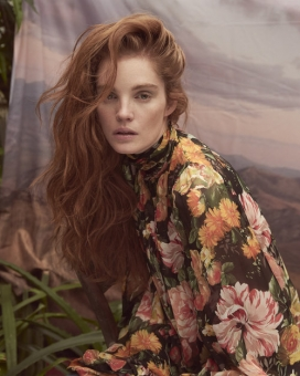 Fashion Photographer Director NYC Andreas Ortner Editorial Marie Claire CZ Alexina Graham Open Hair Fashion Women