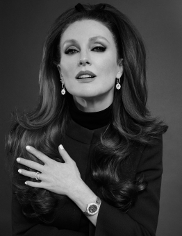 Fashion Photographer Director NYC Andreas Ortner Chopard Julianne Moore 70s Hair Earrings Beauty