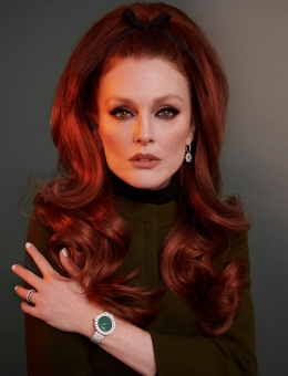 Fashion Photographer Director NYC Andreas Ortner Chopard Julianne Moore 80s Hair Frontal Beauty