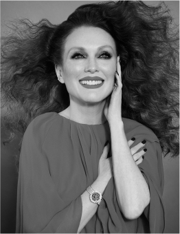 Fashion Photographer Director NYC Andreas Ortner Chopard Julianne Moore Flying Hair Beauty