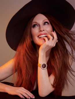 Fashion Photographer NYC Andreas Ortner Chopard Julianne Moore Hat Beauty
