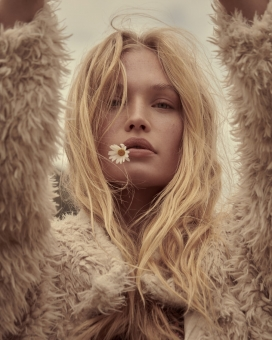Fashion Photographer NYC Andreas Ortner Free People Holiday Campaign Closeup Flower Fashion Advertising