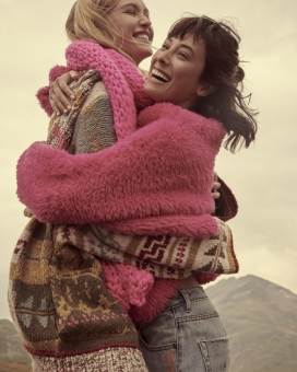 Fashion Photographer NYC Andreas Ortner Free People Holiday Campaign Two Girls Hugging