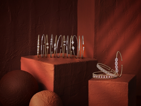 Still Life Photographer Armin Zogbaum Bujukan Jewelry Collection Gabriel & Co Mixed Armcuffs
