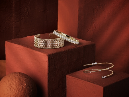 Still Life Photographer Armin Zogbaum Bujukan Jewelry Collection Gabriel & Co Ticker Armcuffs