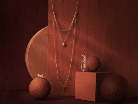 Still Life Photographer Armin Zogbaum Bujukan Jewelry Collection Gabriel & Co Necklace Ring Armcuff