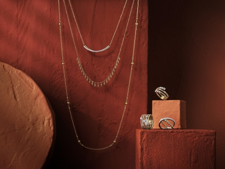 Still Life Photographer Armin Zogbaum Bujukan Jewelry Collection Gabriel & Co Rings and Necklaces